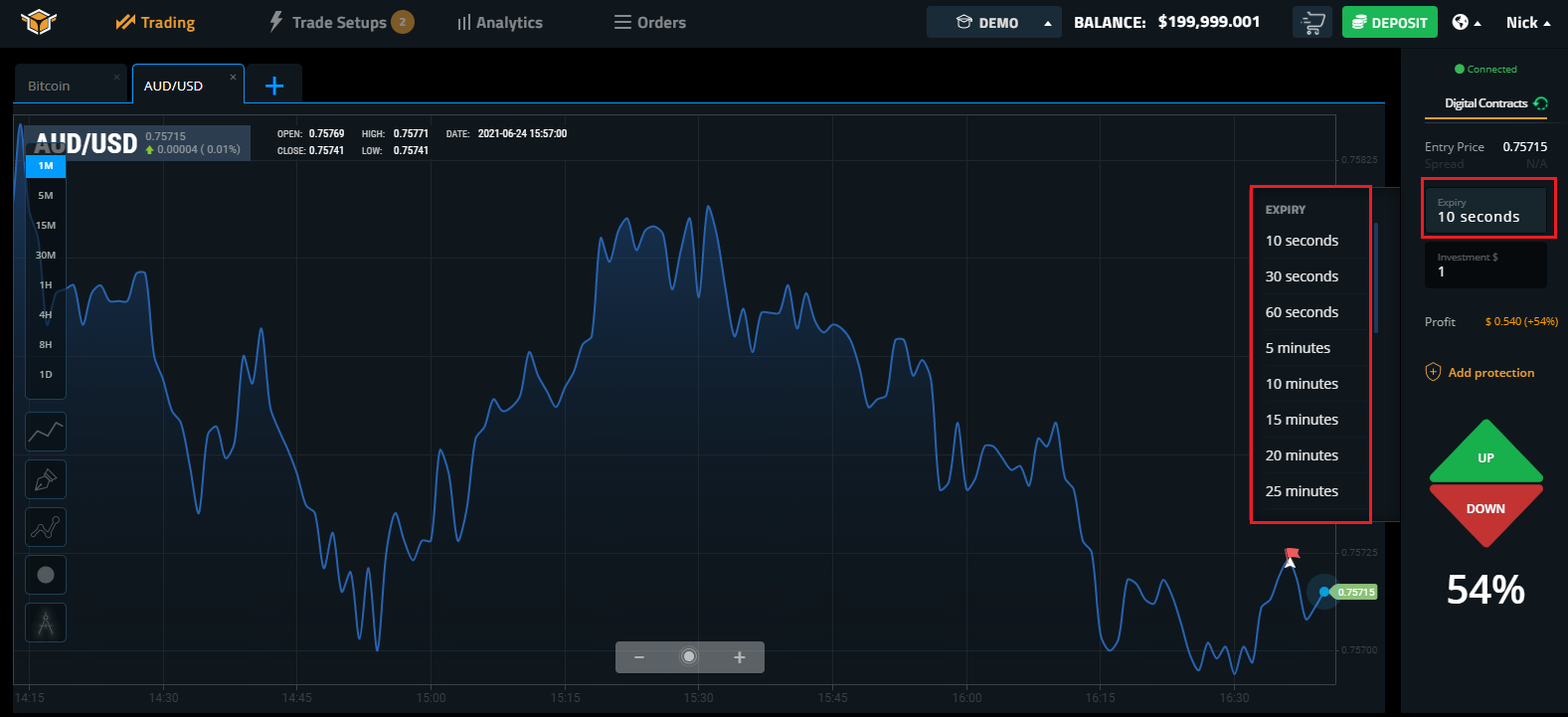 How to Register and Trade Binary Option at Spectre.ai