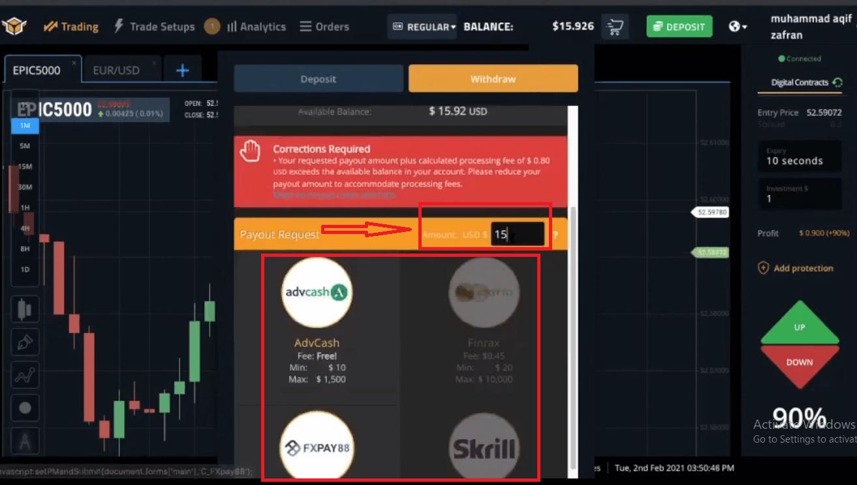 Spectre.ai'de Nasıl Para Çekilir ve Para Yatırılır